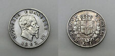 ITALIA 1863 M BN VITTORIO EMANUELE II 1 LIRE MONEDA PLATA MBC