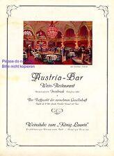 Austria Bar Innsbruck Reklame 1924 Weinstube König Laurin Dosenberger Tanzcafe