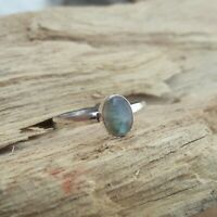Labradorite Stone Solid 925 Sterling Silver Ring Meditation Ring Size All sr.001