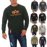 Alpha Industries Herren Sweatshirt Basic 178302 Herrenpullover Sweater Pullover