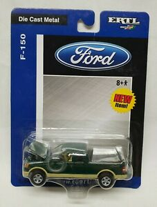 Ford F-150 Pickup Truck Two-Tone Green & Tan By Ertl 1/64 Scale
