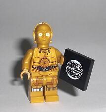 LEGO Star Wars - C-3PO mit Todesstern Plan Figur Minifig C3PO Droide 75136 75173