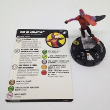Heroclix X-Men Xavier's School set Kid Gladiator #057 Super Rare figure w/card!