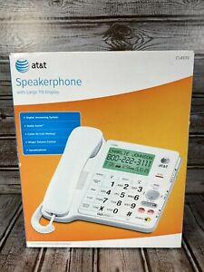 AT&T CL4939 Corded Speakerphone Phone Big Button Answering Machine NEW SEALED