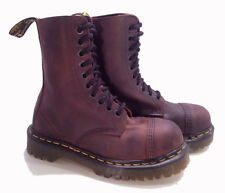 💥Dr. Martens Doc England Rare Vintage Gaucho Steel Toe 10 eye BXB UK4 US6💥