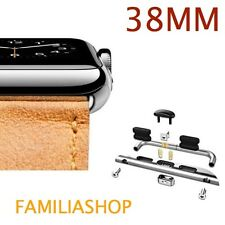1 Pair Adapter Connector Grey Argent Bracelet Apple Watch 38MM 38 MM