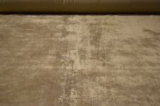 """Beige Tan Flocked Velvet Sueded Upholstery Fabric 56"""" Wide Plush Soft Bty"""