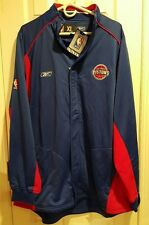 Reebok Detroit Pistons Warm Up Full Zip with Button Down NWT Men's Size XL