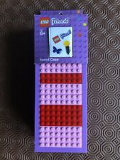 LEGO FRIENDS BUILDABLE SOLID PENCIL CASE + STICKERS BRAND NEW Sturdy case