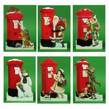 150 Pillar Box Xmas Gift Cards with a Detachable Miniature Envelope  XG0001