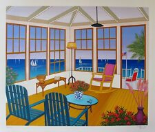 "FANCH LEDAN ""NEW ENGLAND VILLA"" Hand Signed Limited Edition Serigraph"
