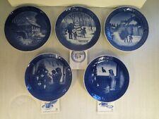 Set Of 5 Royal Copenhagen Christmas Plates 1976, 1979, 1980, 1981, 1982,