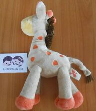 Doudou peluche NICOTOY GIRAFE Baby Collection - BEIGE / ORANGE  25cm - D411