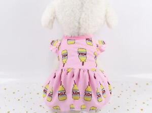 Cute Pet Dog Clothes T Shirt Dress Fruit Small Cat Puppy Skirt Vest Apparel