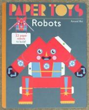 PAPER TOYS ~ ROBOTS ~ 12 PAPER ROBOTS TO BUILD ~ NEW ~ SC