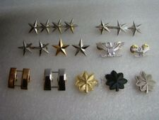 FULL SET WW2 US ARMY OFFICER GENERAL RANK BADGES PIN UNIFORM INSIGNIA