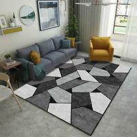 Geometrischen Muster Teppich Wohnzimer Schlafzimmerwolldecke Home Dekor Zubehör