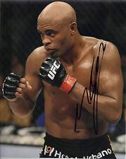 Anderson Silva ORIGINALE FIRMATO 10x8 Photo (UFC) Autografo BRASILE AFTAL COA (e)
