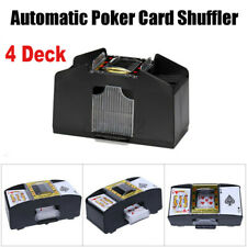 Black 4 Deck Automatic Card Shuffler Poker Cards Shuffling Machine Casino Play