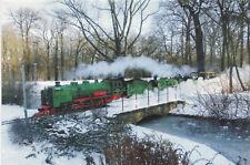 Postkarte Parkeisenbahn Dresden Großer Garten Dampfloks Lisa u. Moritz 8.12.2012