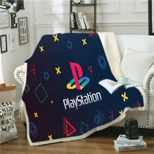 3D Playstation Console Buttons Throw Blanket Velvet Plush Bedding Thick Quilt 8#