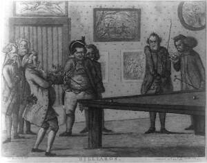 Billiards,Pool,Players,Cue Ball,British Cartoons,1781,Henry William Bunbur 3832