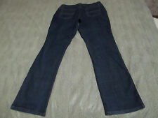 "ST JOHN'S BAY STRETCH STRAIGHT LEG BLUE DENIM JEANS 16 LONG 32 3/4"" INSEAM NICE"