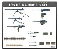 Academy 1/35 U.S Army Machine Gun Set Tank Toys Kits Military Hobby Model 13262