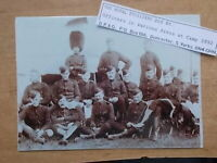 MILITARY PHOTOGRAPH - THE ROYAL FUSILIERS - OFFICERS AT CAMP c1892 - m897