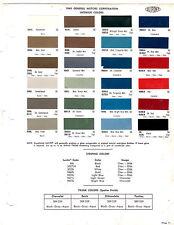 1969 CHEVROLET CORVETTE PONTIAC OLDSMOBILE GTO 69 INTERIOR PAINT CHIPS DUPONT 5