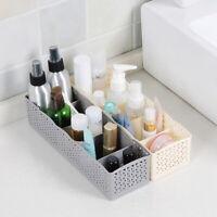 5 Cells Plastic Organizer Storage Box Tie Bra Socks Drawer Cosmetic Divider 1pc