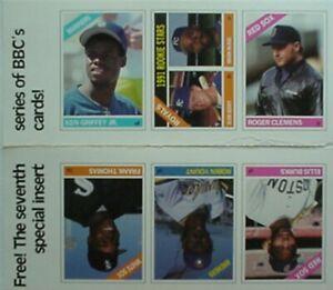 1991 BASEBALL REPLI-CARDS PANEL - KEN GRIFFEY, JR, ROBIN YOUNT, ROGER CLEMENS +