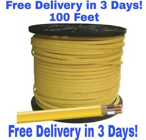 12/2 W/GROUND ROMEX INDOOR ELECTRICAL WIRE 100' FEET - YELLOW OR PINK