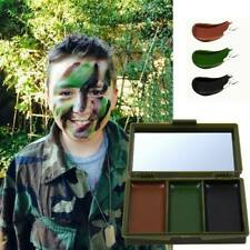 Camouflage Materials Face Military Woodland Hunting Painting Stick Makeup Set US
