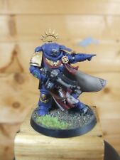 PLASTIC WARHAMMER SPACE MARINE PRIMARIS CAPTAIN PAINTED (637)