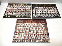 ORIGINAL 1977-1983-1985 Dallas Cowboys Team Pictures W/Rosters
