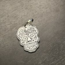Day of the dead Key Chain, candy skull Keyring. goth, emo laser cut & engraved