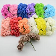 144 pcs Foam Flowers Artificial 2.5 cm Wedding Bride Bouquet Party Decor UK