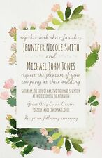 Wedding Invitations Rustic Desert Cactus 50 Invitations & RSVP Cards