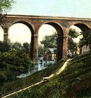 Bridgnorth Mill In The Hole postcard antique river bridge landscape history