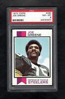 1972 TOPPS FOOTBALL #280 JOE GREENE HOF STEELERS PSA 8 NM/MT++CENTERED!