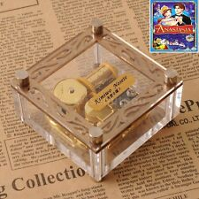 ACRYLIC CUBIC GOLD WIND UP MUSIC BOX ♫ Anastasia Theme Soundtrack ♫