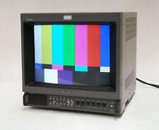 "Sony Trinitron PVM-14M2U 14"" CRT Retro Gaming Video Color Monitor 600TVL Y/C BNC"