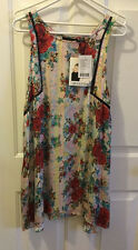 MinkPink Multi Color Floral Dress Womens Juniors Size M 8466 Sleeveless Casual