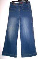 Forever 21 Jeans 27 Retro Vintage Stretch Denim Bell Bottom Hippy Boho Flare Leg