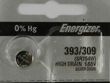 Energizer 393/309 SR754W Button Cell Silver Oxide Watch Battery, 1Pc