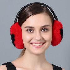 Rex Lapin Fourrure Cache-oreilles avec bande en cuir