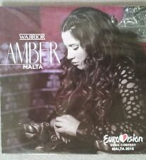 "EUROVISION 2015 MALTA ENTRY AMBER ""WARRIOR"" PROMO CD"