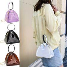 Fashion Women' s Large Capacity Transparent Dumpling Bag Leather Shoulder Bags