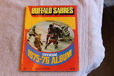 1975-76 Buffalo Sabres NHL hockey picture album yearbook